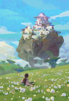 Art by hw 6523 - The Art Showcase Landscape Concept, Fantasy Landscape, Landscape Art, Fantasy Art, Environment Concept, Environment Design, Art Studio Ghibli, Le Vent Se Leve, Bg Design