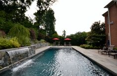 Rectangle Pools - Town and Country Pools : Custom Pool Builders : Pool Designer : Maryland : Northern Virginia : Washington DC : MD