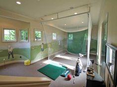 Fun! Turn a play room into an indoor golf range.
