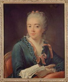 Portrait de femme tenant un livre, Van Loo | Paris Musées