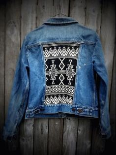 Tribal Print jean jacket