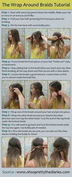 The Wrap Around Braids Tutorial..a whole website of Pinterest Hair Tutorials