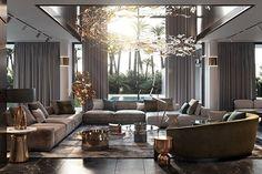 Living room designs – Home Decor Interior Designs Home Living Room, Interior Design Living Room, Living Room Designs, Living Room Decor, Design Bedroom, Dining Room, Luxury Home Decor, Luxury Interior Design, Interior Shop