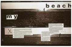 David Carson Magazine Spread - Surf