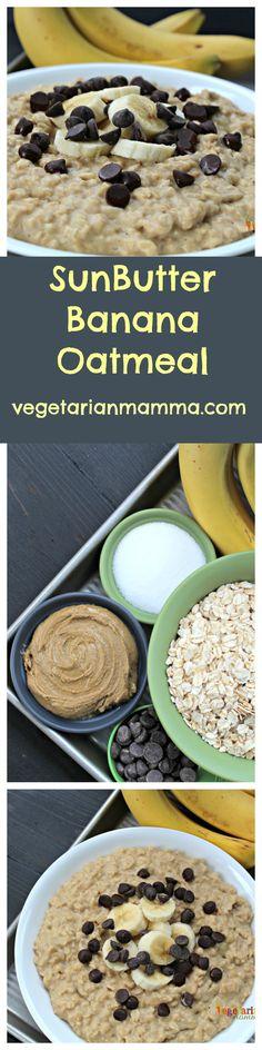 SunButter Banana Oatmeal - Gluten Free and Nut Free