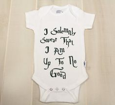 On Sale 6-9 Month Harry Potter Onesie Dark Green Mischief Managed Onesie I Solemnly Swear That I Am Up To No Good Harry Potter Baby Shower by OyoPOP
