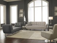 Modern Chic -- Love seats, Lounges and Chairs.   Lazar Furniture