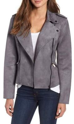 KUT from the Kloth Haddie Faux Suede Moto Jacket