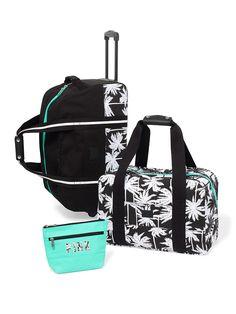 3-piece Travel Set in Black Palms $148.95- PINK - Victoria's Secret