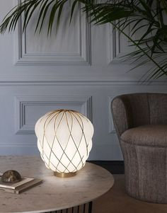 Blown glass table lamp PINECONE | Table lamp by FontanaArte