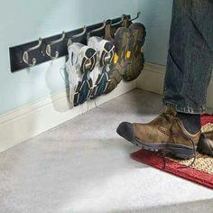 Schoenen ophangen opgeruimd