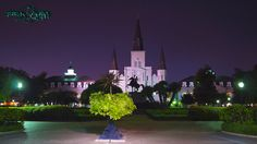 St. Louis Cathedral.  Just a little after twilight.