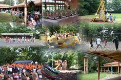 Fotokollage vom  Waldheim - kids play in Germany
