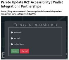 On the development server some product updates can be seen getting ready for primetime, such as the ability to log in by manually signing your wallet address, and by using a Ledger… Integrity, Blockchain, Cryptocurrency, Coins, Platform, Hands, People, Collection, Data Integrity