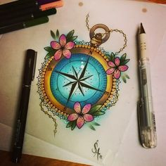 Super tattoo ideas for guys old school products ideas Sailor Tattoos, Bff Tattoos, Couple Tattoos, Future Tattoos, Small Tattoos, Tatoos, Ocean Tattoos, Traditional Compass Tattoo, Neo Traditional Tattoo