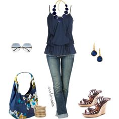 """""""Dress Up A Plain Tank Top"""" by archimedes16 on Polyvore"""
