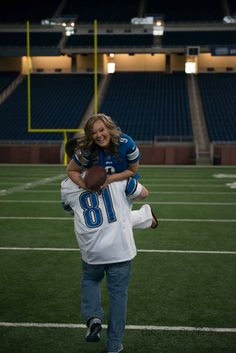 Engagement photo Lions football stadium Ford Field