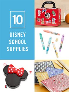 From DIY notebooks and printable stickers to Frozen highlighters and Minnie washi tape, we've rounded up 10 cute Disney school supplies for back-to-school.