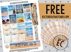 Free Printable Beach Planner Stickers from Victoria Thatcher