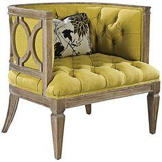 Westwood Lemon Flora Accent Chair