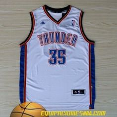 Camiseta nba baratas china Oklahoma City Thunder Durant #35 blanco nueva pano €19.99