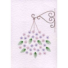 Hanging basket Prick and Stitch e-pattern