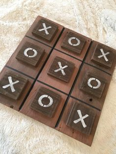 Large Tic Tac Toe Game Set made from Distressed by JMPalletDesign