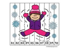Winter Number Puzzles {Skip Counting by 2,5 and 10}