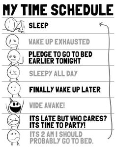 Andy would agree with this as my sleep schedule.. lol