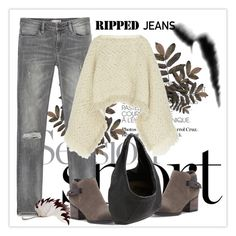 """Style This Trend: Ripped Jeans"" by andrejae ❤ liked on Polyvore featuring Zara, Sacai, Sole Society, Bottega Veneta and rippedjeans"