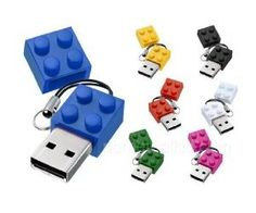 This little cute Lego Brick USB drive can store up to 4GB, your friends won't even recognize that it's an USB drive! At least 10 years of data retention with 1,000,000 times storage!