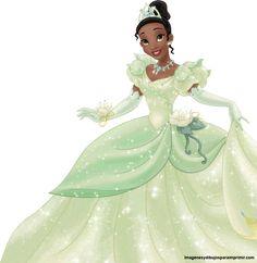 tiana vestida novia para imprimir