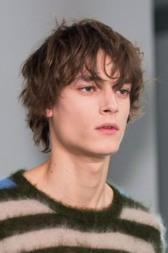 Many pictures of soft and fuzzy angora and mohair men's and women's sweaters including vintage and retro. Messy Hair Boy, Messy Haircut, Fringe Haircut, Boys With Curly Hair, Shaggy Short Hair, Shaggy Haircuts, Short Hair Cuts, Shot Hair Styles, Curly Hair Styles