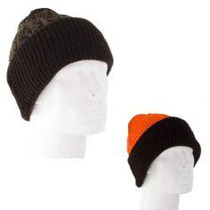 6fc03c14dc171 Reversible Camo Ski Hat with Blaze Orange Lining