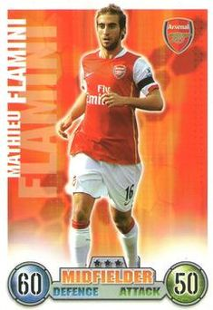 2007-08 Topps Premier League Match Attax #10 Mathieu Flamini Front