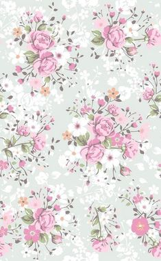 Wallpaper flowers vintage floral patterns pink roses 68 Ideas for 2019 Phone Wallpaper Pink, Flower Wallpaper, Pattern Wallpaper, Spring Wallpaper, Heart Wallpaper, Decoupage Vintage, Vintage Paper, Vintage Floral, Flower Backgrounds