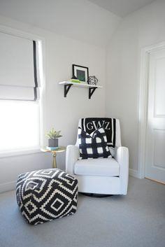 Black and White Modern Baby Boy Nursery 810419742