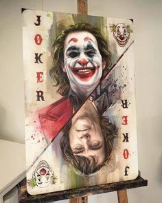 Painting joker by ben jeffery Ps Wallpaper, Joker Iphone Wallpaper, Joker Wallpapers, Phone Wallpapers, Joker Photos, Joker Images, Foto Joker, Disney Tapete, Joker Cartoon
