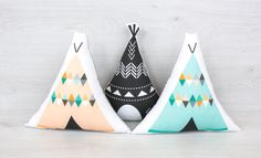 FREE SHIPPING Teepee Stuffed vigvam Pillow Nursery by VigvamShop