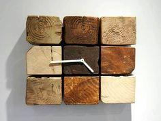 cute pallet cube wall clock