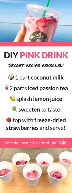Starbucks secret menu it Frappuccino .Starbucks secret menu it Frappuccino how to make the 'Pink Drink' at home to increase the offer - Samantha Fashion LifeHere's how Starbucks Diy, Starbucks Pink Drink Recipe, Pink Drink Recipes, Healthy Starbucks Drinks, Starbucks Secret Menu Drinks, Pink Drinks, Yummy Drinks, Healthy Drinks, Healthy Food