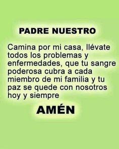 Spanish Prayers, Catholic Prayers, Beautiful Words, Gods Love, Life Quotes, Inspirational Quotes, Faith, Sayings, Amor