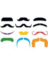 Mustache Finger Tattoo 1 Sheet - Costume Accessories - Western Theme Party - Theme Parties - Categories - Party City