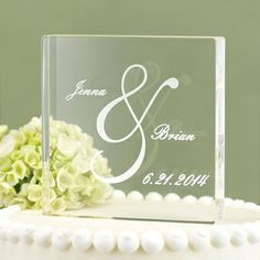 Personalized Ampersand Cake Topper -  - another style;