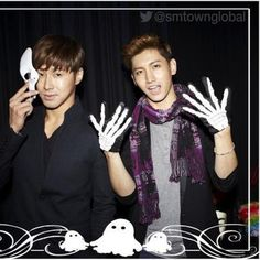 THSK <3 :* Kpop Halloween Costume, Happy Halloween, Chang Min, Korean Pop Group, Know It All, Korean Bands, Tvxq, Eye Candy, Inspirational Quotes