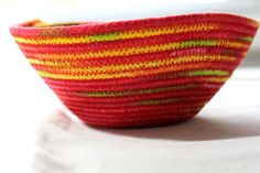 Hey, I found this really awesome Etsy listing at https://www.etsy.com/listing/280921176/coiled-rope-basket-in-hot-mediterranean