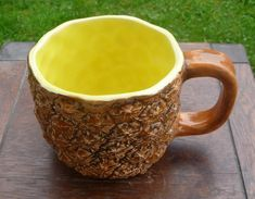 This carved pineapple mug. | 28 Products For People Who Are Super Excited About Pineapples