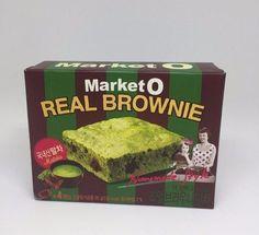 [ORION] MARKET O REAL BROWNIE MATCHA 4ea Korea Famous Snack K-Food #ORION