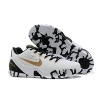 watch 39adc 2bb51 New Nike Kobe 9 EM Low 653972-701 White Black Gold Discount shoes Shoes Men