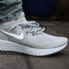 new concept cdd0a f85cc Nike Epic React Flyknit Sneakers Wolf Grey Size 7 8 9 10 11 12 Mens Shoes